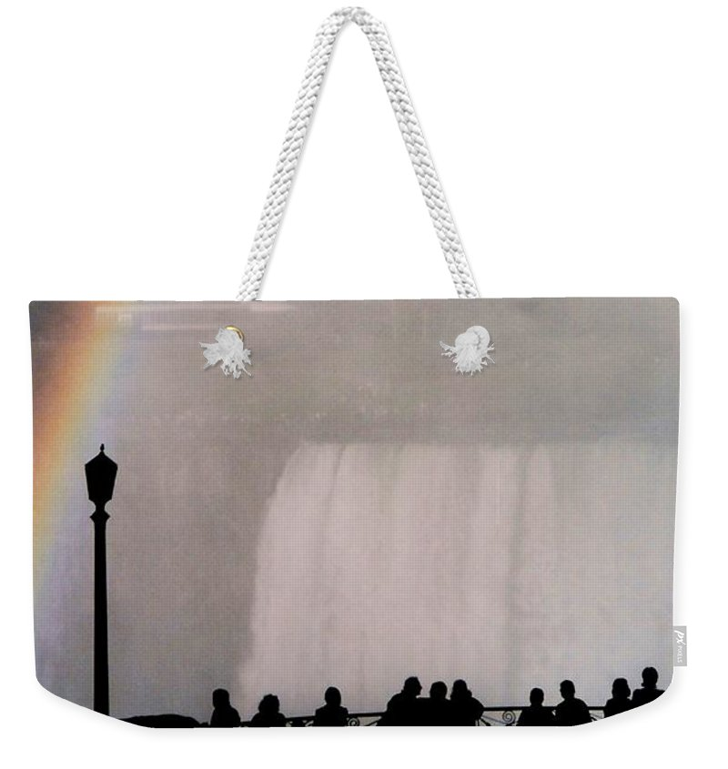 Waterfall Weekender Tote Bag featuring the photograph Rainbow Falls by Pharris Art
