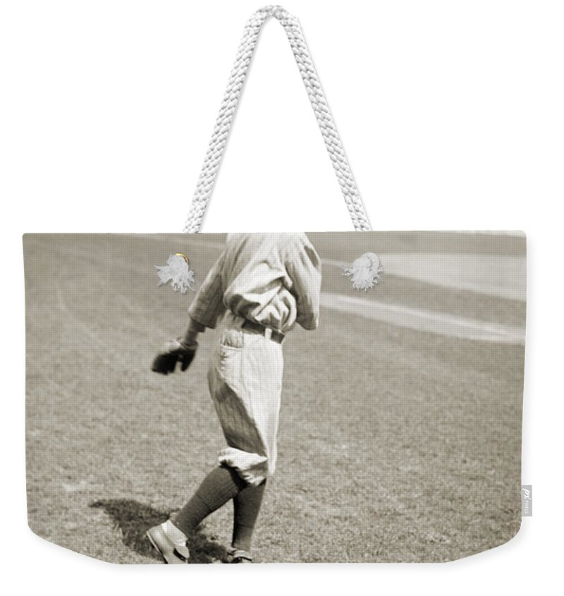 1919 Weekender Tote Bag featuring the photograph Raymond Johnson Chapman by Granger