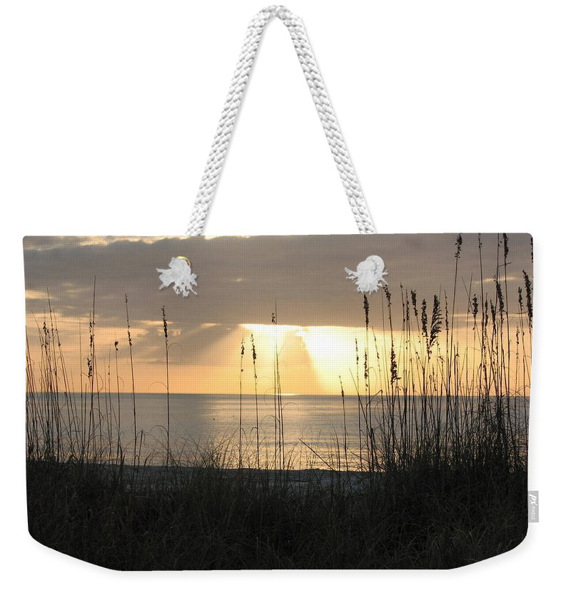 Sunshine Weekender Tote Bag featuring the photograph Rays Of Hope by SJ Lindahl
