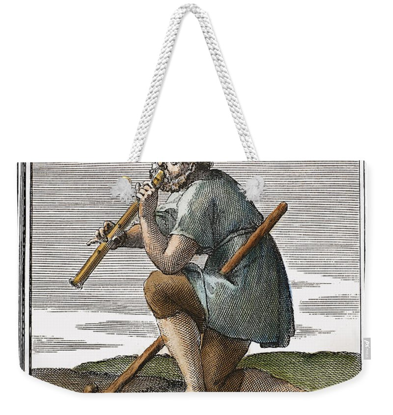 1723 Weekender Tote Bag featuring the photograph Recorder, 1723 by Granger