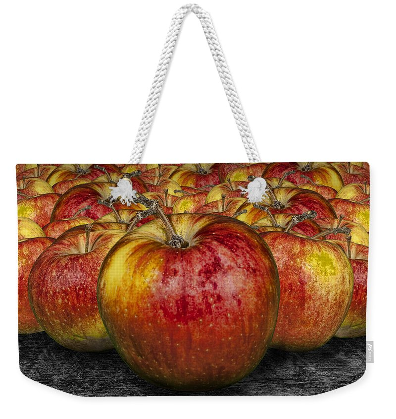 Art Weekender Tote Bag featuring the photograph Red Apples by Randall Nyhof