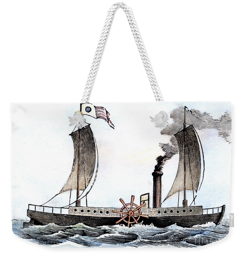 1807 Weekender Tote Bag featuring the photograph Robert Fultons Clermont by Granger