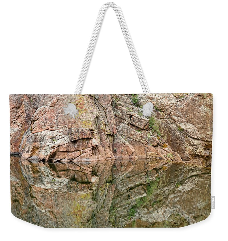 Rocky Mountains' Weekender Tote Bag featuring the photograph Rocky Mountain Reflections by James BO Insogna