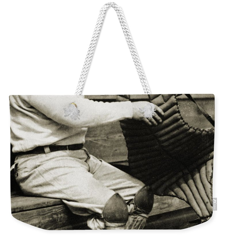 20th Century Weekender Tote Bag featuring the photograph Roger Bresnahan (1879-1944) by Granger