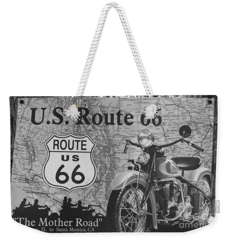 Classic Car Weekender Tote Bag featuring the photograph Route 66 by Bob Christopher
