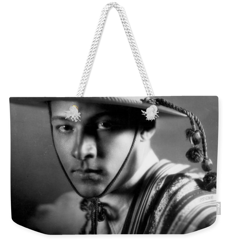 -nec12- Weekender Tote Bag featuring the photograph Rudolph Valentino by Granger