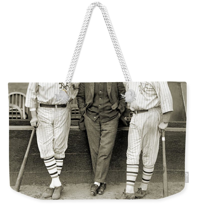 1923 Weekender Tote Bag featuring the photograph Ruth, Dunn And Bentley by Granger