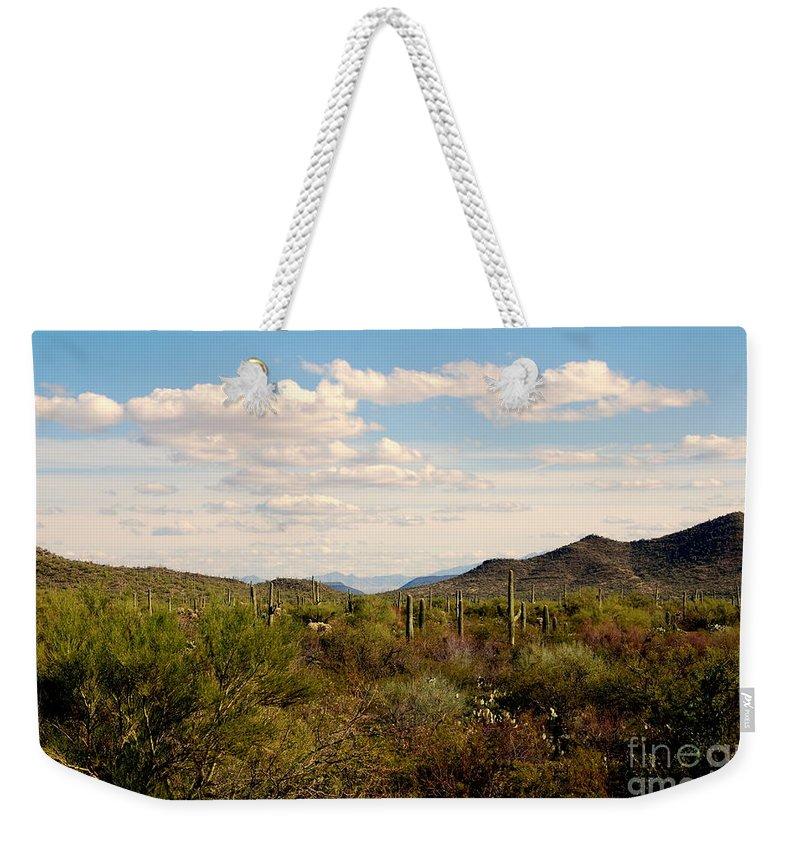 Saguaro National Park Weekender Tote Bag featuring the photograph Saguaro National Park Az by Susanne Van Hulst