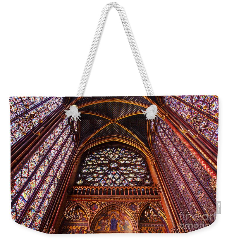Architectural Weekender Tote Bag featuring the photograph Saint Chapelle by Brian Jannsen