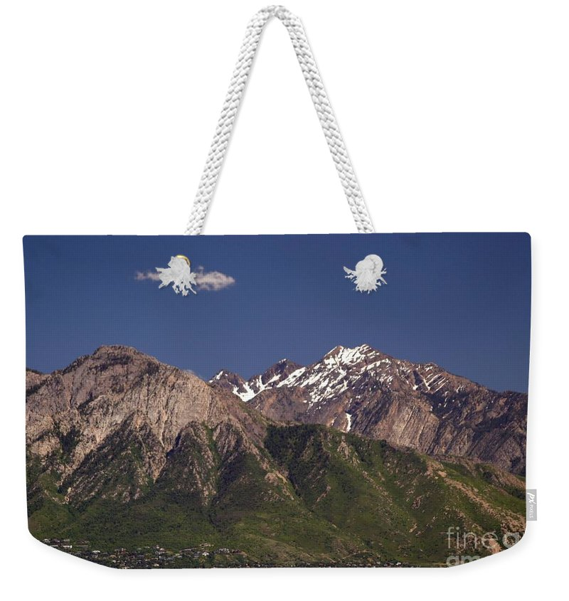 Salt Lake City Weekender Tote Bag featuring the photograph Salt Lake City by Living Color Photography Lorraine Lynch