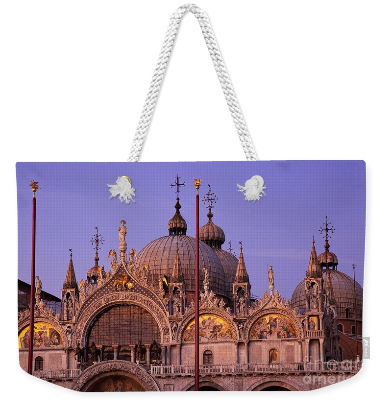 Basilica Weekender Tote Bag featuring the photograph San Marco by Brian Jannsen