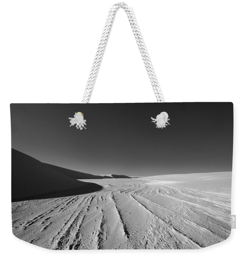 New Mexico Weekender Tote Bag featuring the photograph Sand Lines by Sean Wray