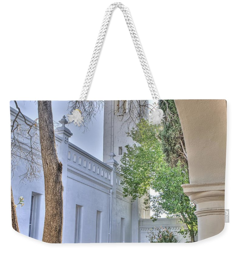 Barrio Weekender Tote Bag featuring the photograph Santa Cruz Catholic Church 2 by Larry White