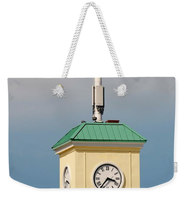 Clocktower Weekender Tote Bag featuring the photograph Save The Clock Tower by Rob Hans