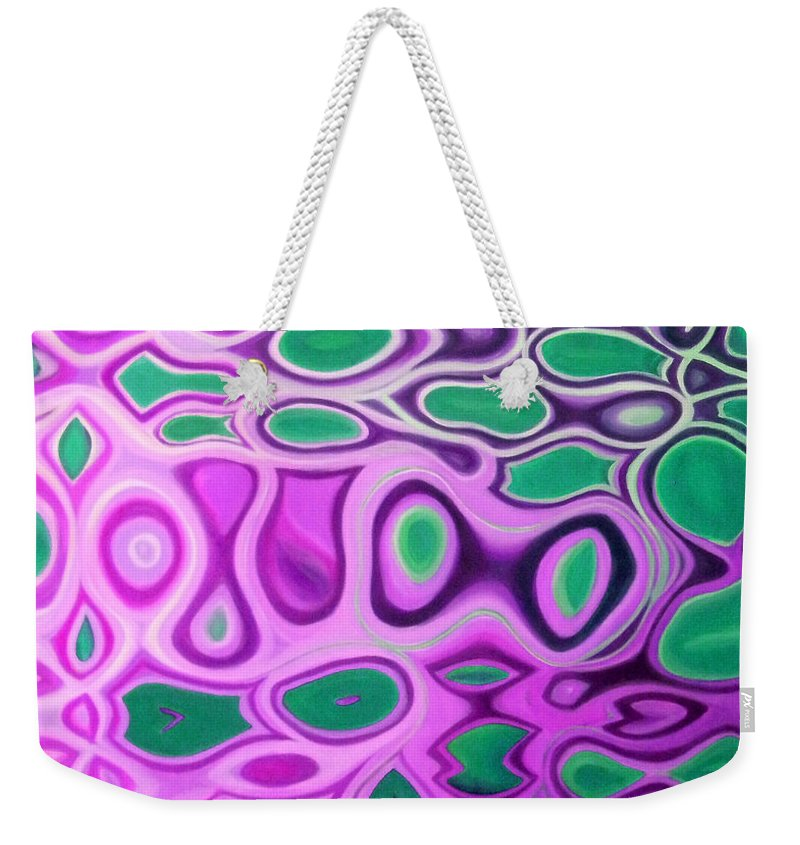 Australian Weekender Tote Bag featuring the painting Sealace 3 by Giro Tavitian