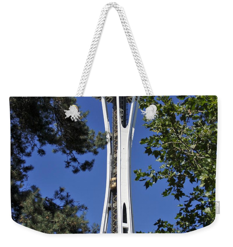 3scape Photos Weekender Tote Bag featuring the photograph Seattle Space Needle 2 by Adam Romanowicz