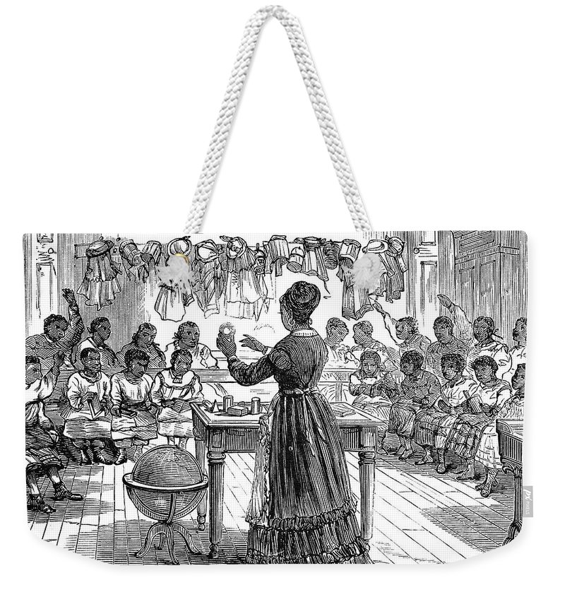 1870 Weekender Tote Bag featuring the photograph Segregated School, 1870 by Granger