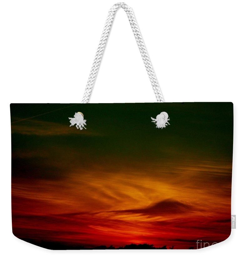 Sunset Weekender Tote Bag featuring the photograph September 30 2007 1 by Mark Gilman