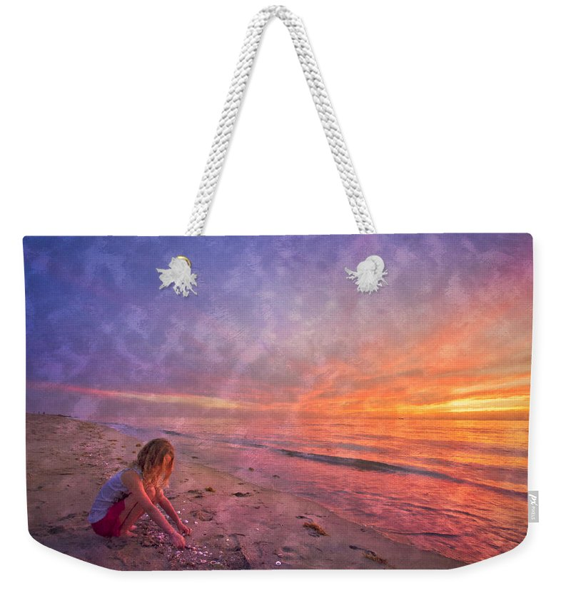 Clouds Weekender Tote Bag featuring the photograph Shelling by Debra and Dave Vanderlaan