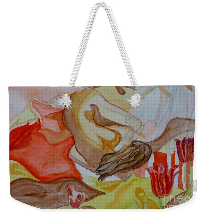 Reclining Woman Weekender Tote Bag featuring the painting Siesta by Caroline Street