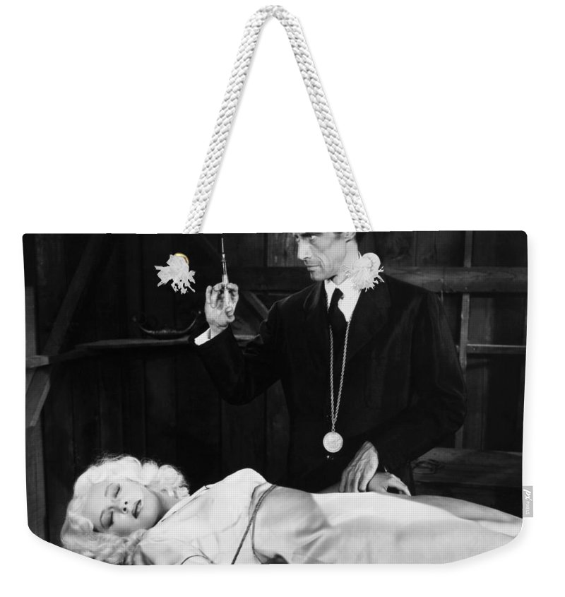 -doctors & Illness- Weekender Tote Bag featuring the photograph Silent Film Still: Doctor by Granger