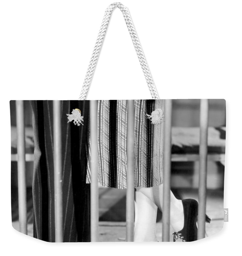 -leggs- Weekender Tote Bag featuring the photograph Silent Film Still: Legs by Granger