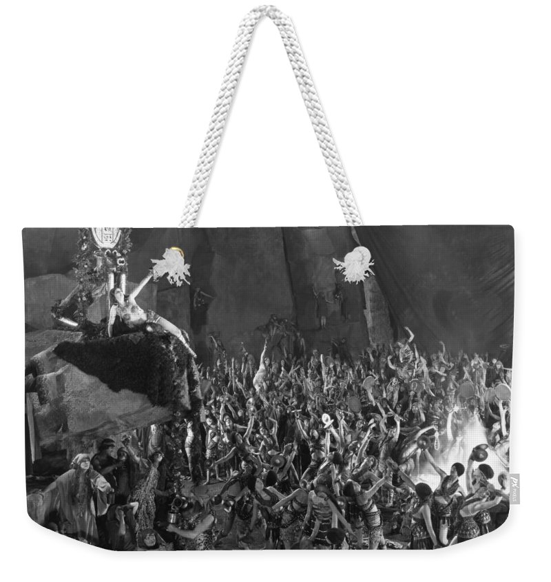 -orgies- Weekender Tote Bag featuring the photograph Silent Film Still: Orgies by Granger