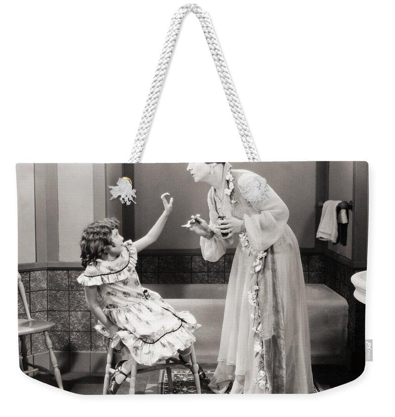 -children- Weekender Tote Bag featuring the photograph Silent Still: Children by Granger