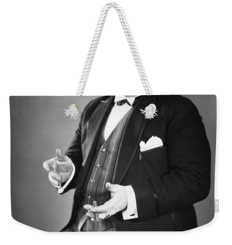 -man Single- Weekender Tote Bag featuring the photograph Silent Still: Single Man by Granger