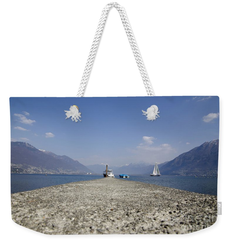 Port Weekender Tote Bag featuring the photograph Small Port by Mats Silvan