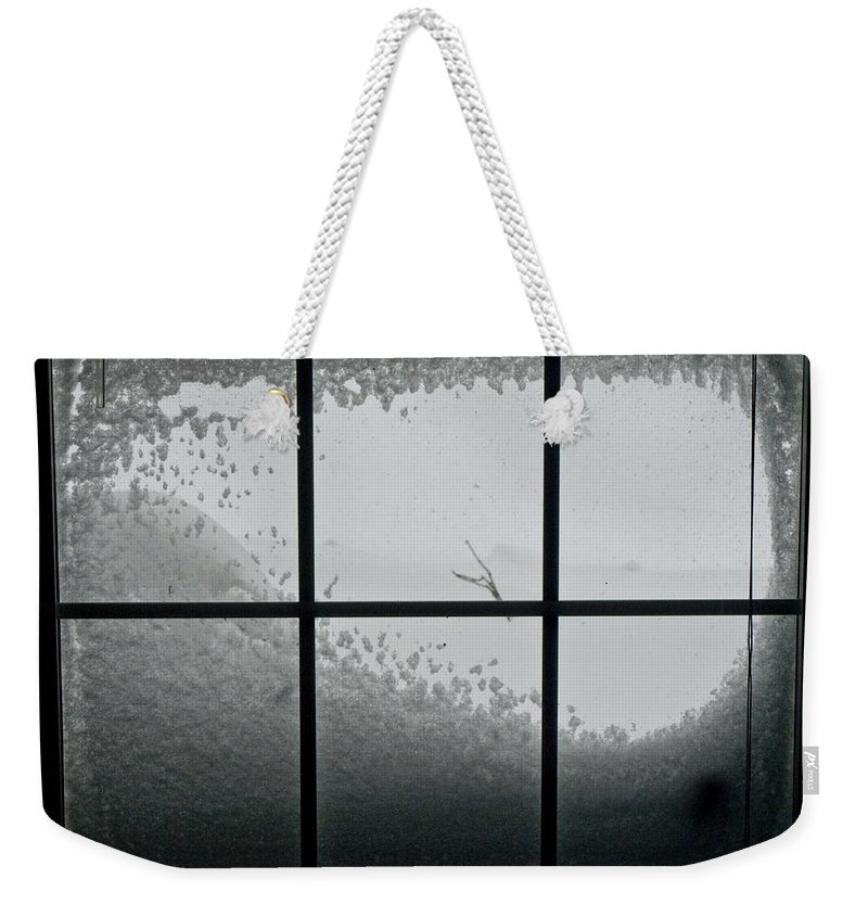 Chevy Chase Weekender Tote Bag featuring the photograph Snow Covers The Streets by Stacy Gold