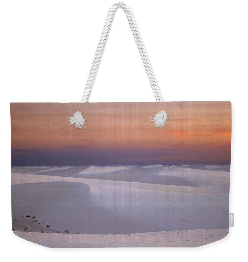 New Mexico Weekender Tote Bag featuring the photograph Sunset At White Sands by Sean Wray