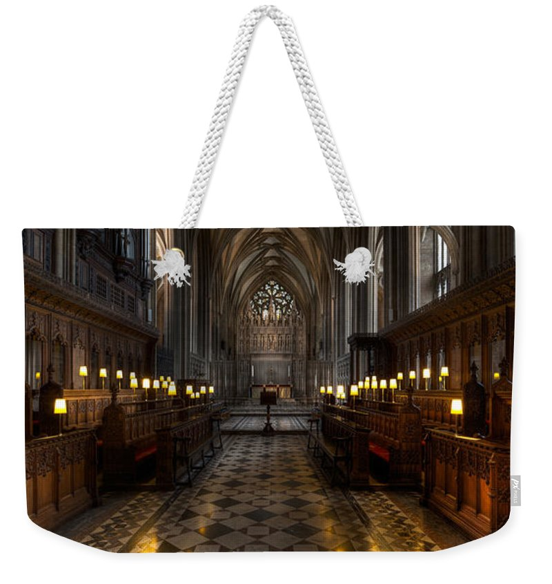 Architecture Weekender Tote Bag featuring the photograph The Altar by Adrian Evans