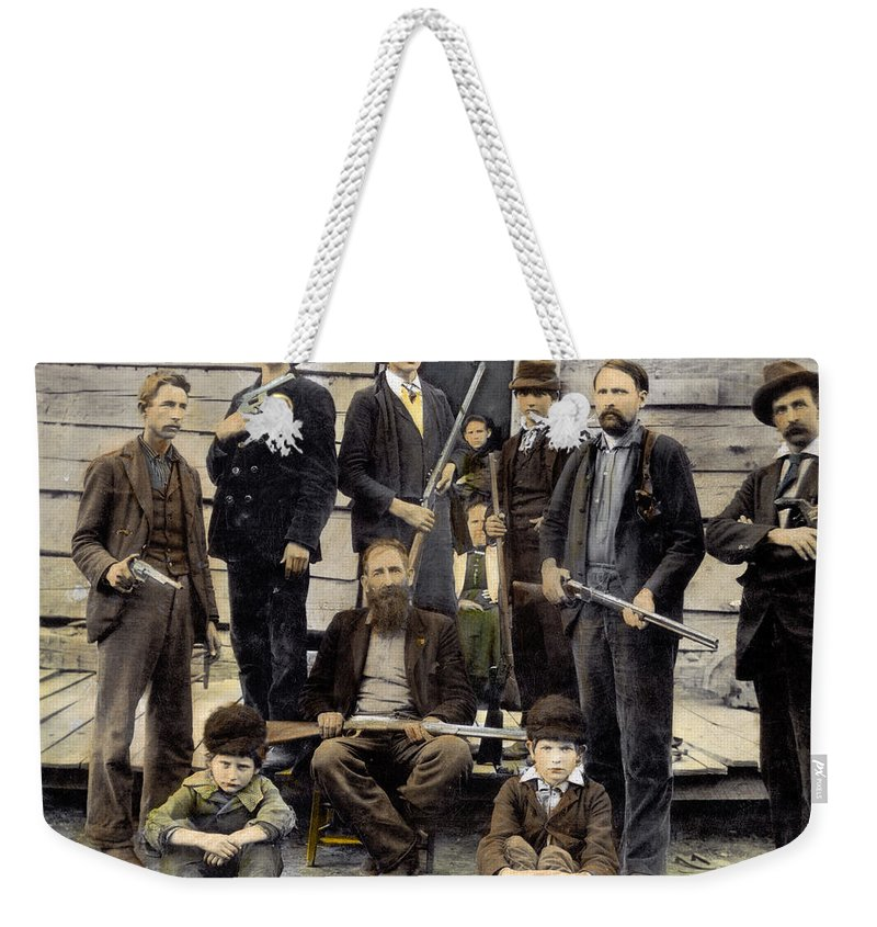 1899 Weekender Tote Bag featuring the photograph The Hatfields, 1899 by Granger