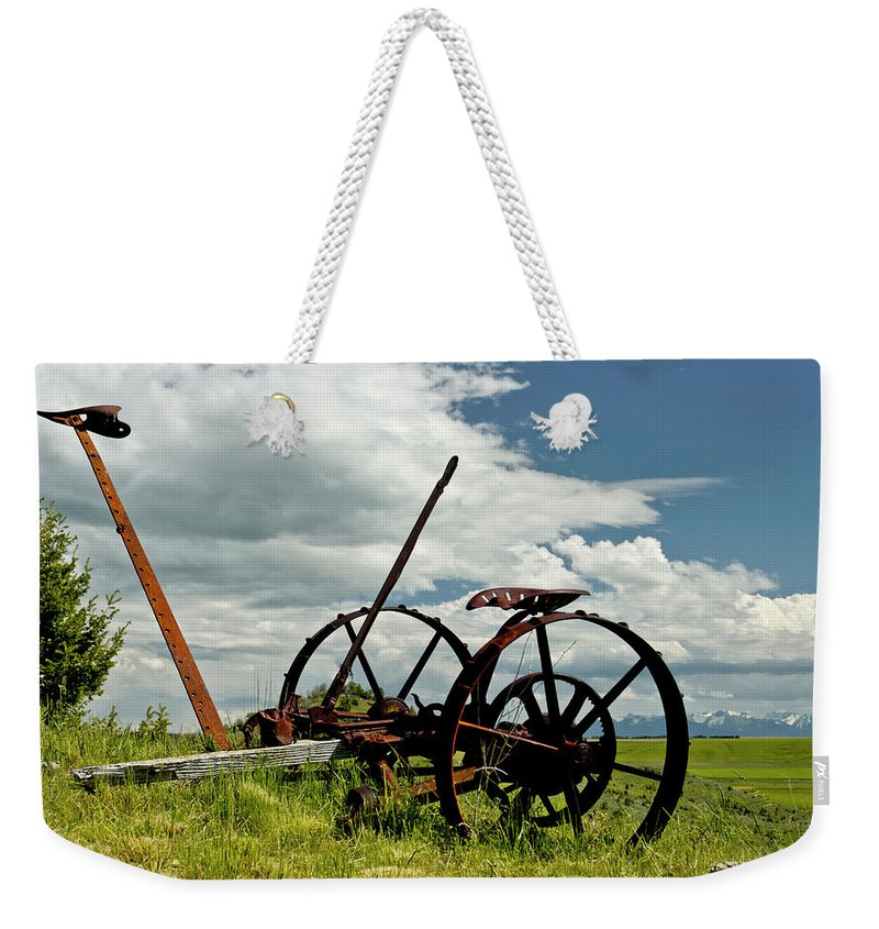 Americas Weekender Tote Bag featuring the photograph The Old Sythe by Roderick Bley