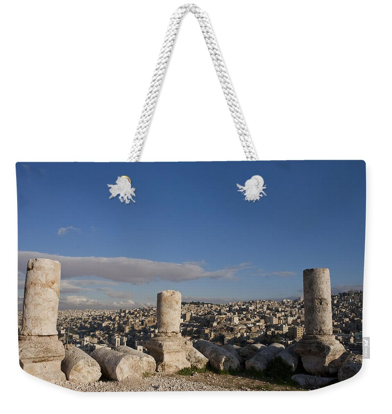 Ruins Weekender Tote Bag featuring the photograph The Ruins Of The Ancient Citadel, Or by Taylor S. Kennedy