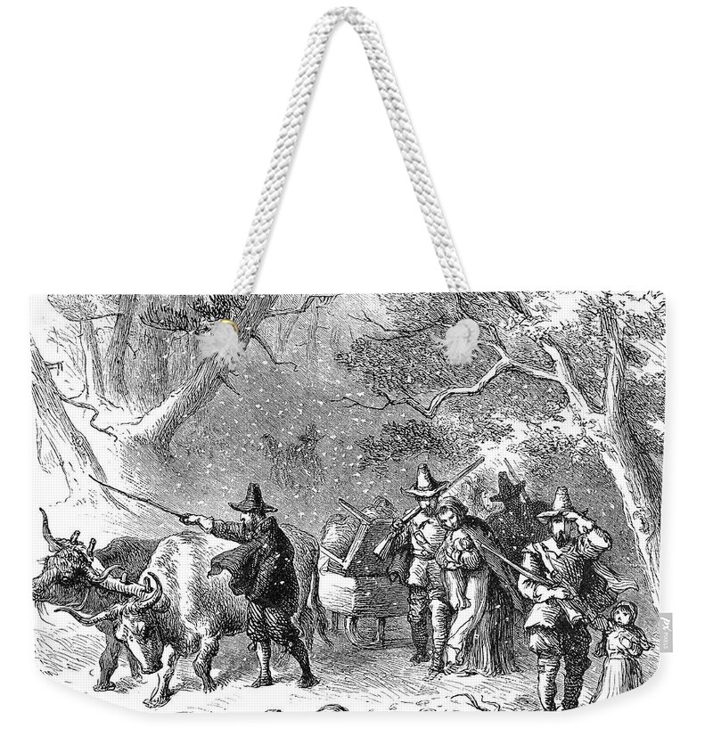 1636 Weekender Tote Bag featuring the photograph Thomas Hooker (1586-1647) by Granger