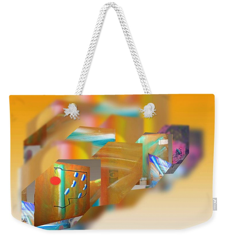 Japan Weekender Tote Bag featuring the painting Tsunami by Charles Stuart