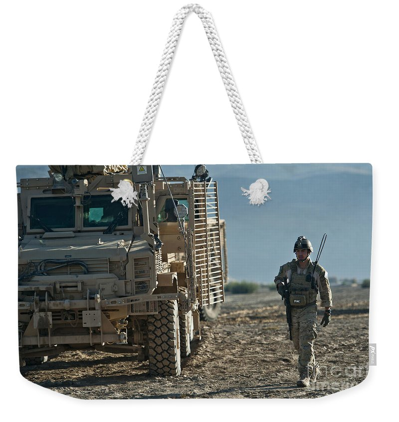 Mrap Weekender Tote Bag featuring the photograph U.s. Air Force Joint Terminal Attack by Stocktrek Images