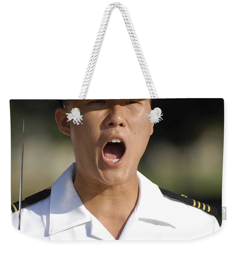 Us Naval Academy Weekender Tote Bag featuring the photograph U.s. Naval Academy Midshipmen by Stocktrek Images