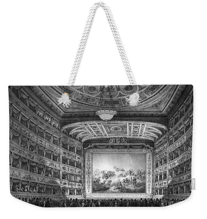 1837 Weekender Tote Bag featuring the photograph Venice: Teatro La Fenice by Granger