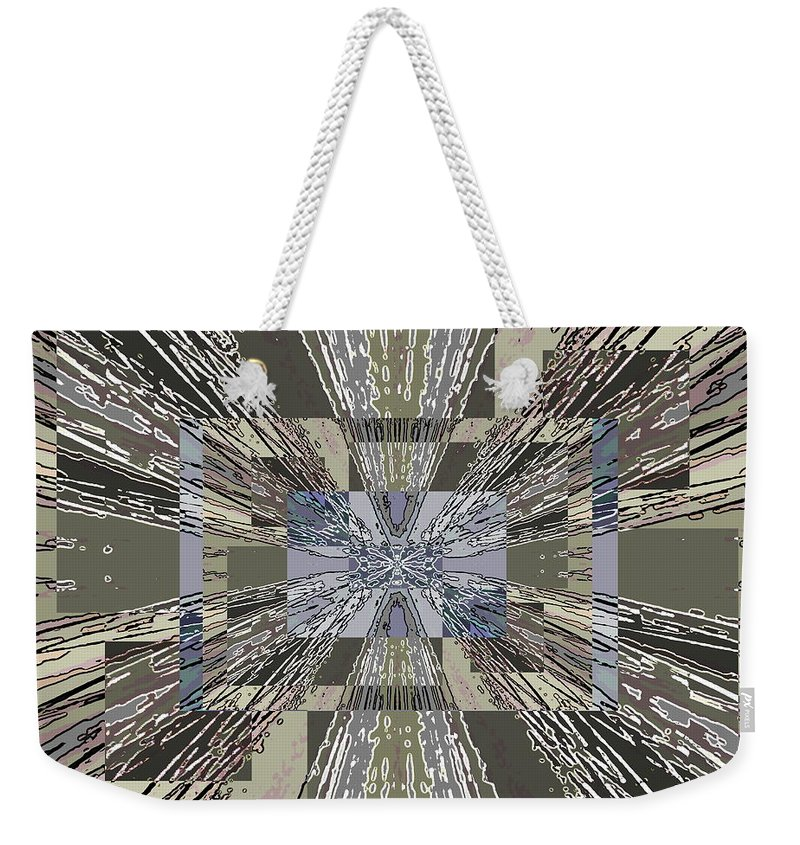 Abstract Weekender Tote Bag featuring the digital art Verve 3 by Tim Allen