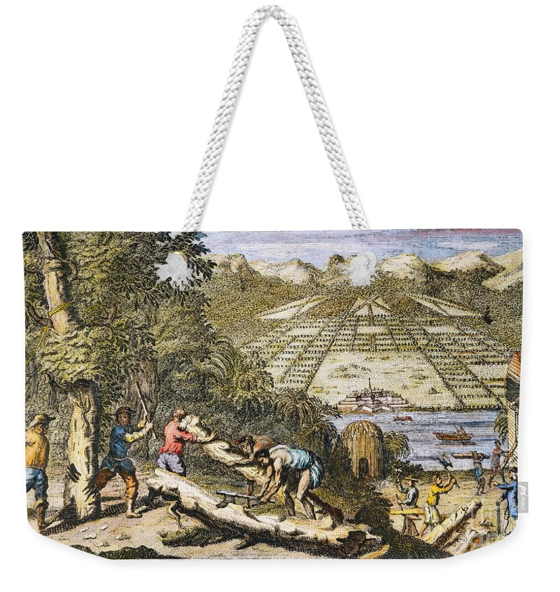 1733 Weekender Tote Bag featuring the photograph View Of Savannah, Georgia by Granger
