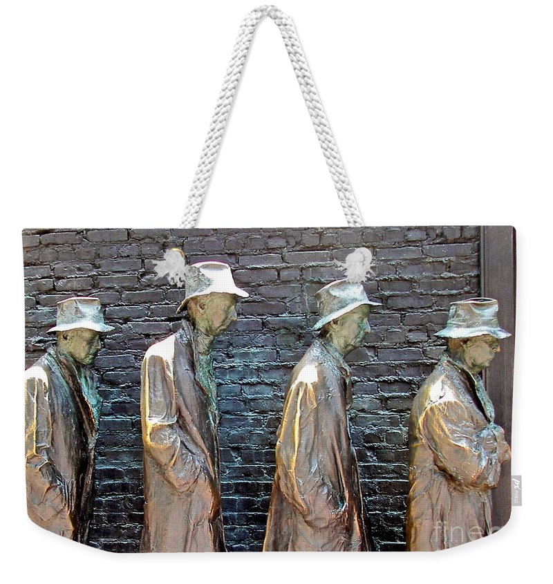 Statue Weekender Tote Bag featuring the photograph Waiting by Carol Bradley
