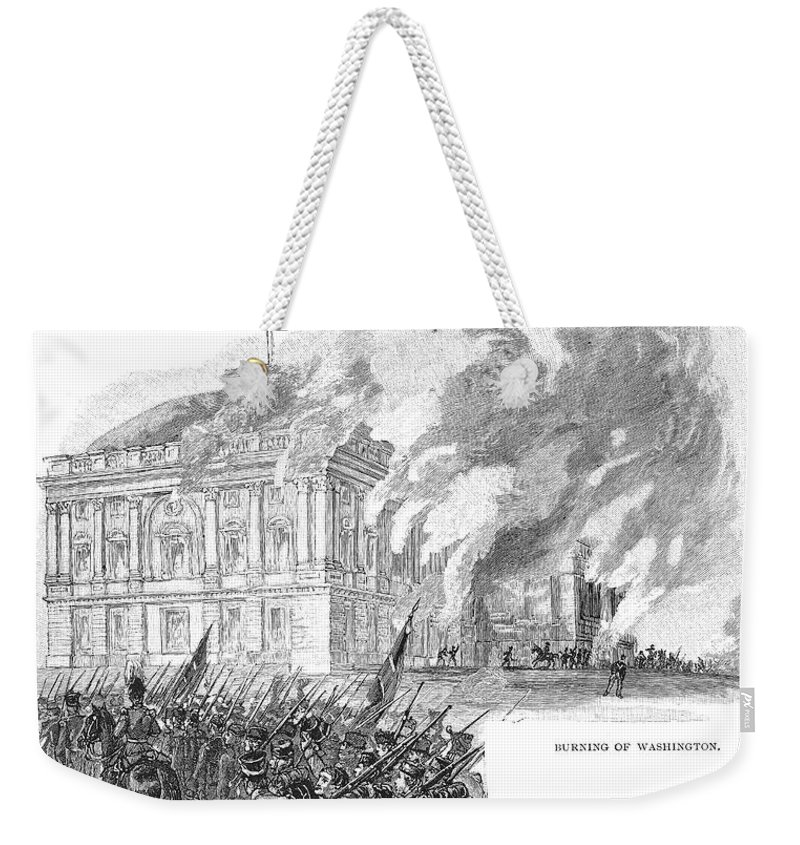 1814 Weekender Tote Bag featuring the photograph Washington Burning, 1814 by Granger