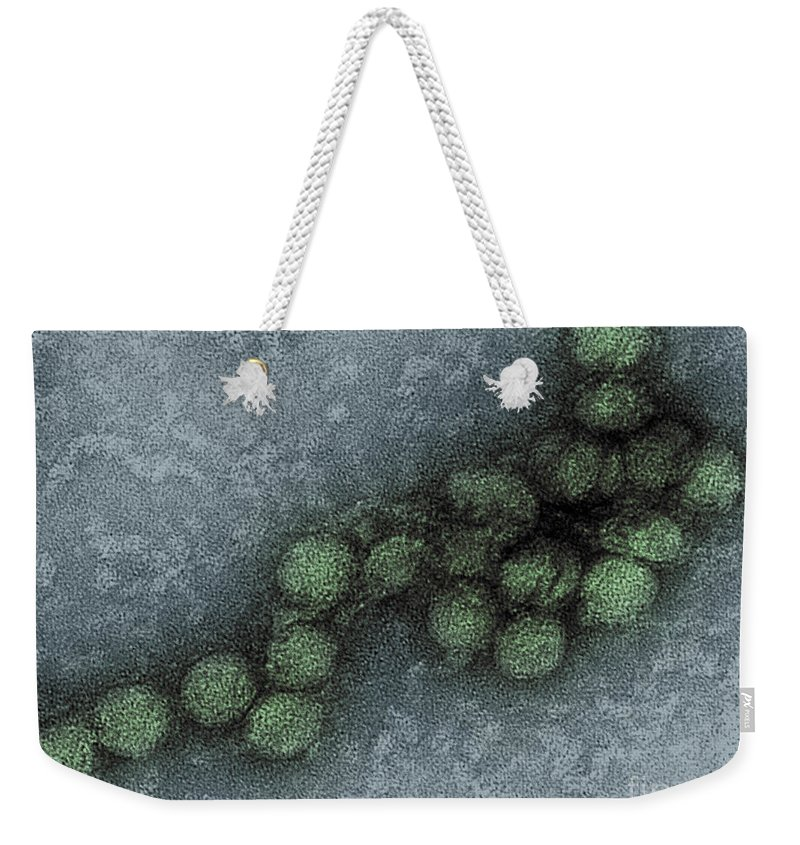 Science Weekender Tote Bag featuring the photograph West Nile Virus, Tem by Science Source