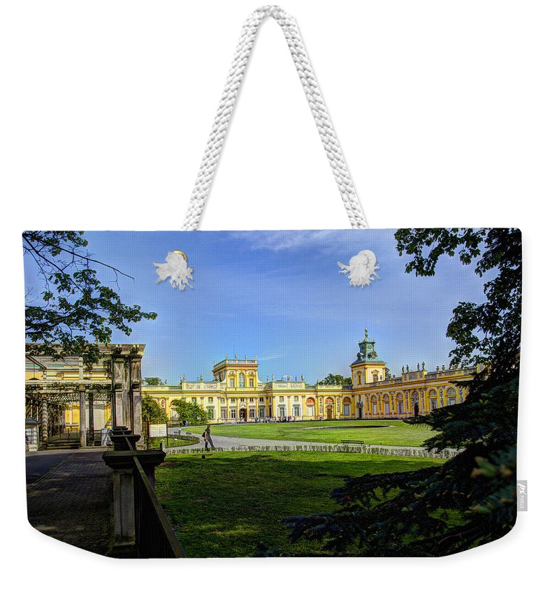 Wilanow Palace Weekender Tote Bag featuring the photograph Wilanow Palace - Warsaw Poland by Jon Berghoff
