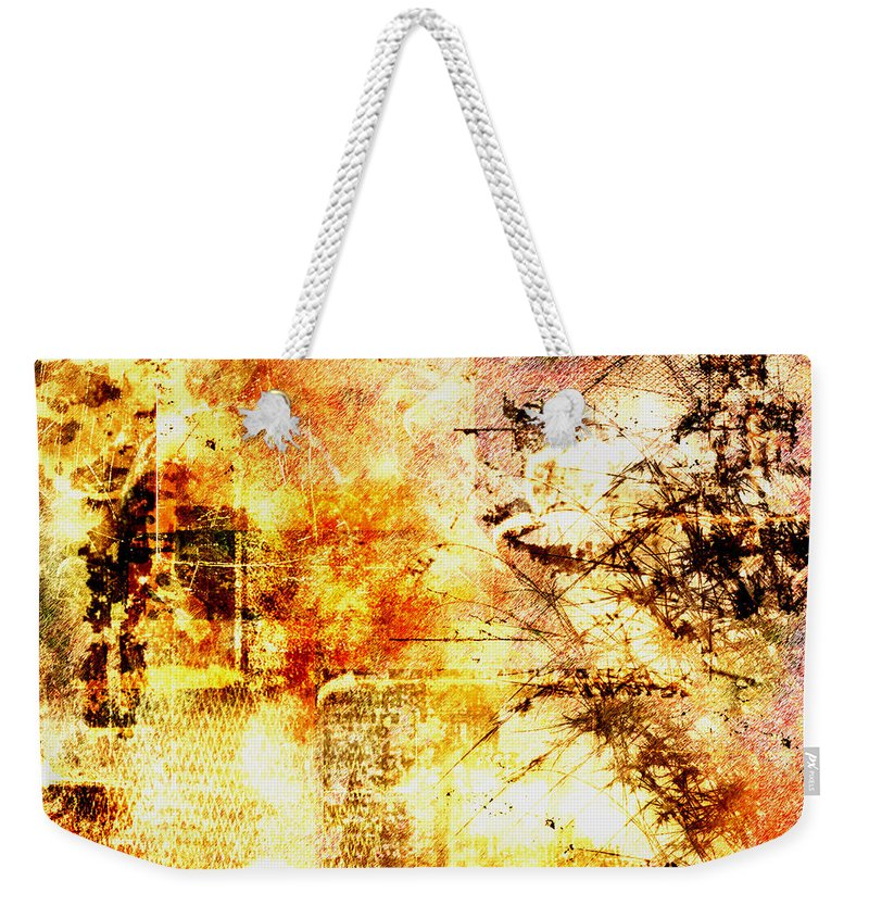 Wilderness Weekender Tote Bag featuring the painting Wilderness by Christopher Gaston