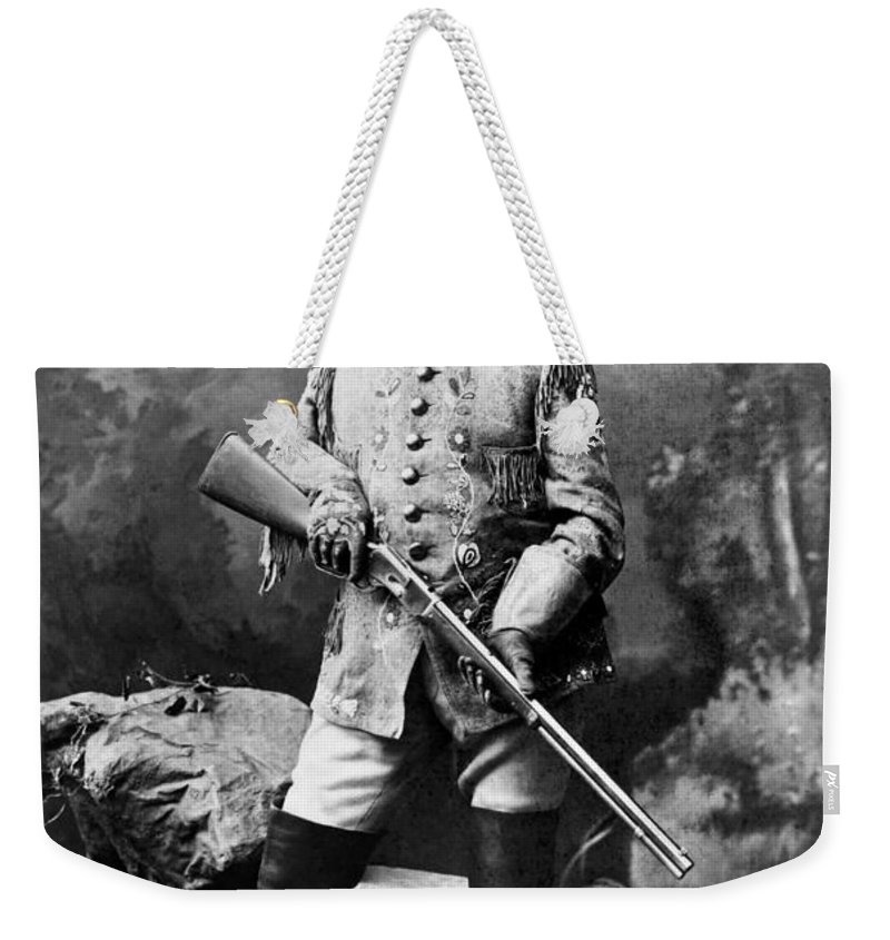 1900 Weekender Tote Bag featuring the photograph William F. Cody (1846-1917) by Granger
