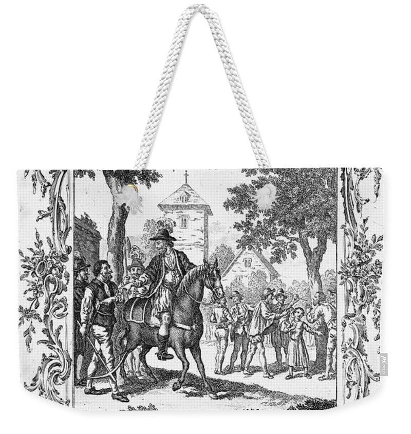 16th Century Weekender Tote Bag featuring the photograph William Tell by Granger